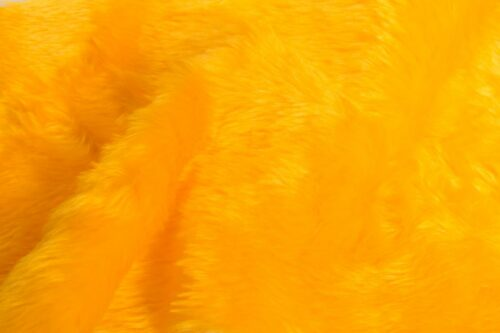 Budget faux fur Low price gold yellow faux fur fabric short pile – W1/60-M-Gold