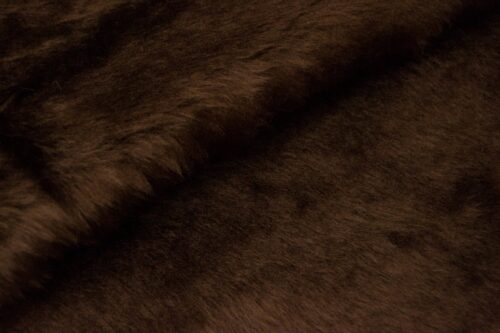 Budget faux fur Low price malt brown faux fur fabric short pile – W1/60-Malt-162