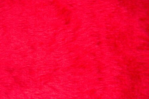 Budget faux fur Low price red faux fur short pile – W1/60-R-Red