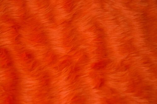 Faux fur by the metre Low price tangerine orange faux fur fabric  short pile – W1/60-Tangerine
