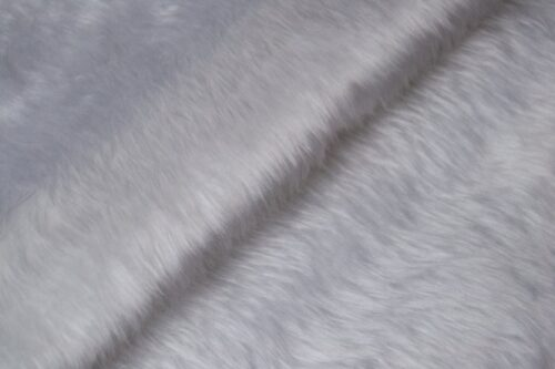 Budget faux fur Low price white faux fur fabric short pile – W1/60-White