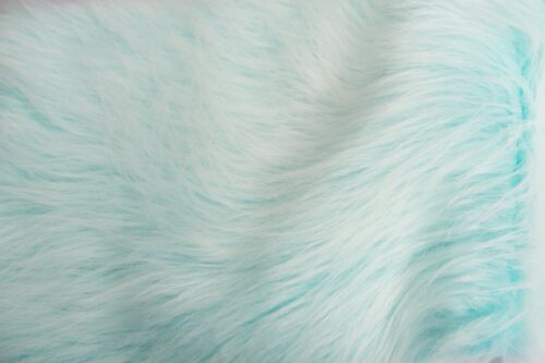 Budget faux fur Peacock blue frost long-haired faux fur fabric by the metre – YF 306 Peacock Frost