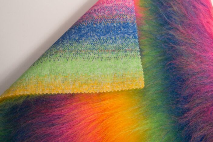 Budget faux fur Rainbow faux fur fabric by the meter for disguise, costumes, cosplay – YF 59/4 1084/1