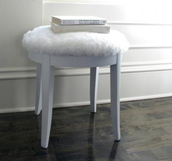 fake fur stool