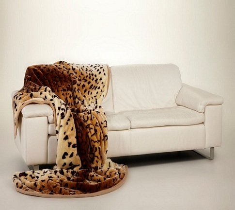 Ready made products Bedspread brown / beige leopard pattern