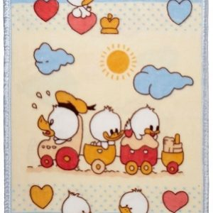 Ready made products Duck family kids / playpen blanket 100 / 140 cm