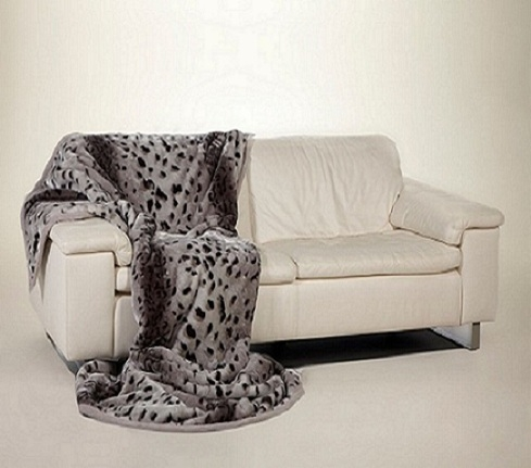 Ready made products Bedspread grey / black cheetah 200×240 cm
