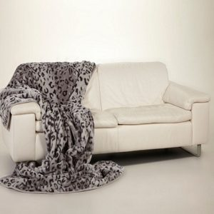 Ready made products Bedspread grey leopard 200×240 cm