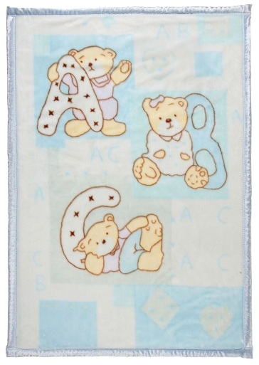 Ready made products Playpen blanket ABC bears – 100/ 140 cm