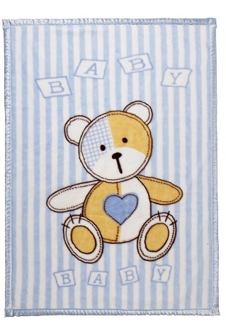 Ready made products Kids / playpen blanket with bear 100/140 cm