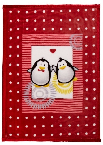Ready made products Penguin blanket for playpen 100/140 cm