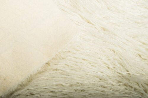Faux fur by the metre Cream Mongolian Fake Fur Fabric – 1591 Cream