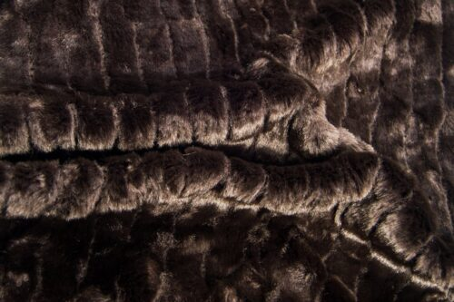 Faux fur by the metre Super soft brown pleated faux fur fabric – 1212 brown