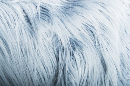 Faux fur by the metre Long pile faux fur fabric in powder Blue – 1521