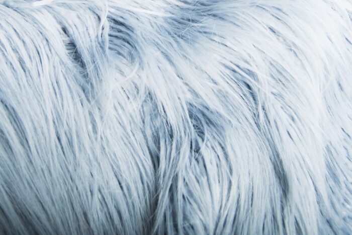 Faux fur by the metre Long pile faux fur in powder Blue – 1521