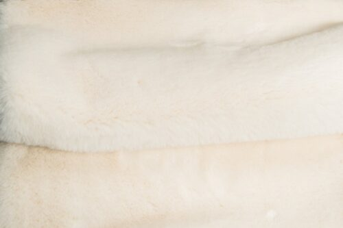 Faux fur by the metre Super soft cream rabbit style faux fur fabric – 2R333 Cream