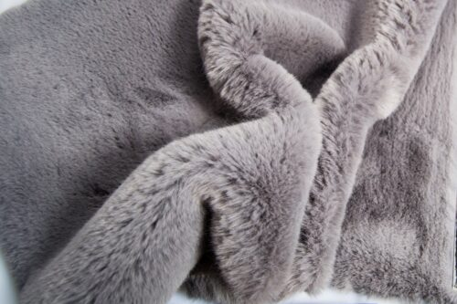 Faux fur by the metre Super soft grey rabbit style faux fur fabric – 2R333 Grey