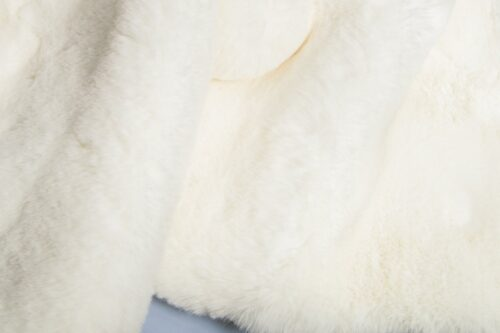 Faux fur by the metre Super soft off-white rabbit style faux fur fabric – 2R333 R white