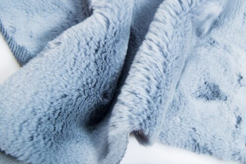 Faux fur by the metre Super soft blue rabbit style faux fur fabric – 2R333 Blue