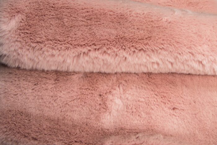 Faux fur by the metre Super soft pink rabbit style faux fur fabric – 2R333 Pink