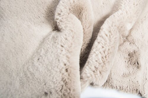Faux fur by the metre Super soft taupe rabbit style faux fur fabric – 2R333 Taupe