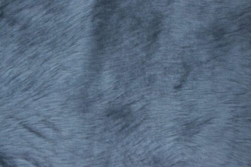 Faux fur by the metre Low price mineral blue faux fur fabric short pile – W1/60-Airforce