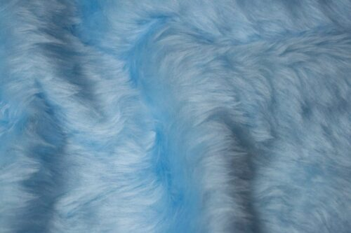 Faux fur by the metre Low price sky blue faux fur fabric short pile – W1/60-B-Blue