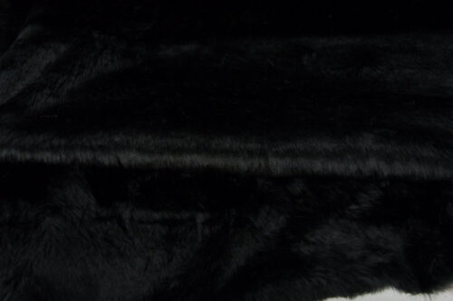 Faux fur by the metre Low price black faux fur fabric short pile – W1/60-Black