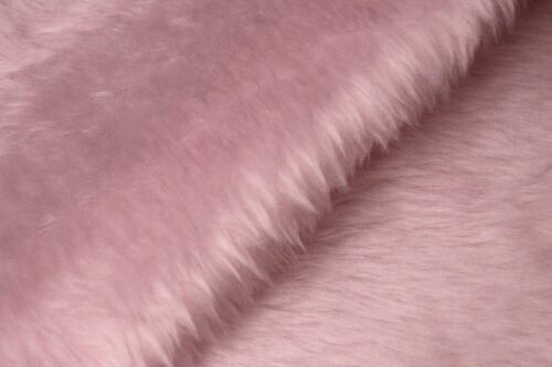 Budget faux fur Low price blossom pink faux fur fabric short pile – W1/60-Blossom-117