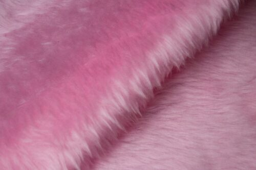 Faux fur by the metre Low price blossom pink faux fur fabric short pile – W1/60-Blossom-117