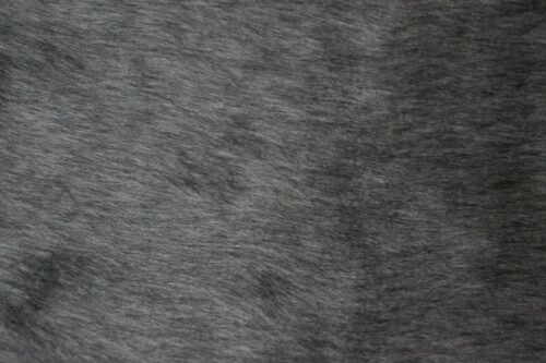 Budget faux fur Low price dark grey faux fur fabric short pile – W1/60-Dark-Grey-554
