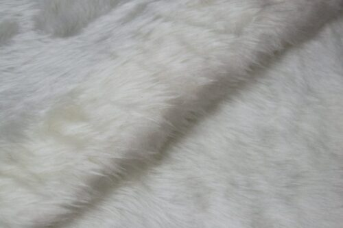 Faux fur by the metre Low price ecru white faux fur fabric short pile – W1/60-Ecru-101