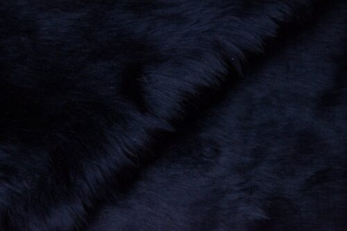 Budget faux fur Low price navy blue faux fur fabric short pile – W1/60-Navy-112