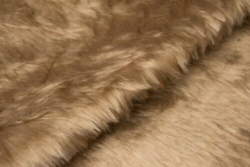 Faux fur by the metre Low price camel brown faux fur fabric short pile – W1/60-Camel-457