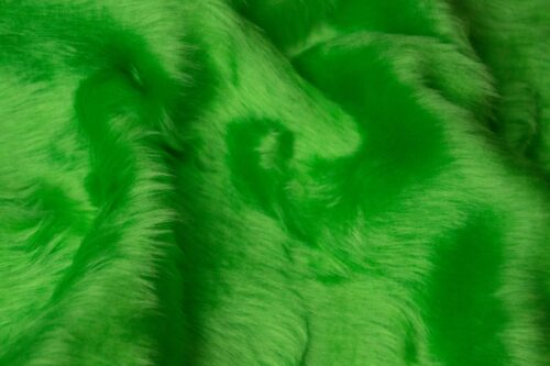 Faux fur by the metre Low price lime green faux fur fabric short pile – W1/60-Lime-134