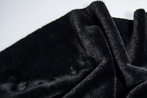 Faux fur by the metre Super soft black faux fur fabric by the metre for lining – 2R338 Black