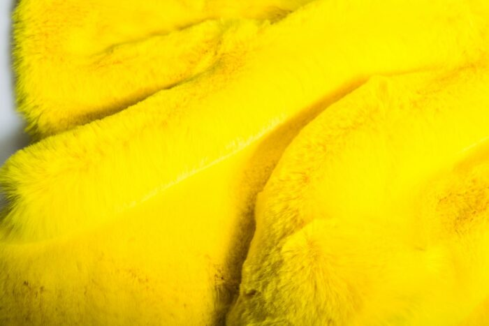 Faux fur by the metre Super soft faux fur fabric imitating rabbit, yellow – 3091 African yellow