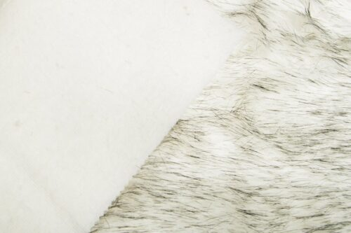 Faux fur by the metre Luxurious long haired white/black fox imitation faux fur fabric by the meter – 7552 White black