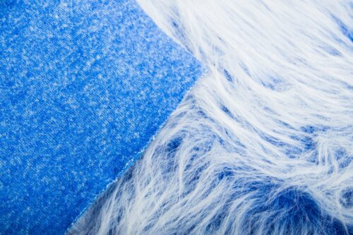 Faux fur by the metre Low Price Cobalt Blue Frost Longhaired Faux Fur – AC356-Cobalt Frost