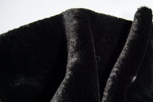 Faux fur by the metre Super soft black rabbit style faux fur fabric – 2R333 Black