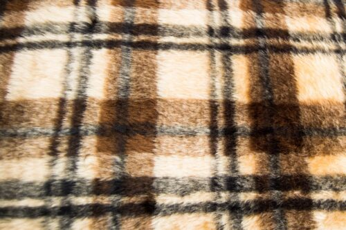 Budget faux fur Burberry faux fur fabric by the meter for disguise, costumes, cosplay – R2/60/3 826/1