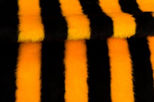 Faux fur by the metre Bee faux fur fabric by the meter for disguise, costumes, cosplay – Bee Stripe R2/60/2 920/1  1201/1