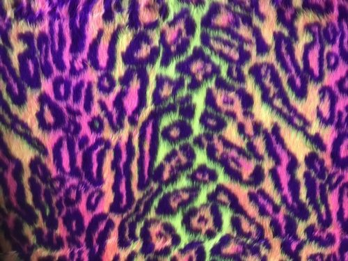 Budget faux fur Multicolor jaguar faux fur fabric by the meter for disguise, costumes, cosplay – R2/60/3 FG 81/3 Jaguar 111/4