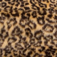 Budget faux fur Leopard faux fur fabric by the meter for disguise, costumes, cosplay – R2/60 1386/1