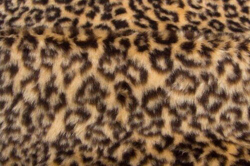Faux fur by the metre Leopard faux fur fabric by the meter for disguise, costumes, cosplay – R2/60 1386/1