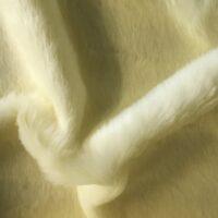 Budget faux fur Magnolia White Faux fur Fabric by the meter super value for money –  YF 286/1 Magnolia
