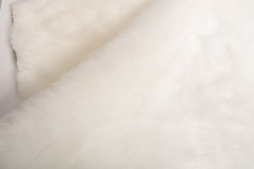 Faux fur by the metre White Faux fur Fabric by the meter super value for money –  YF 286/1 White