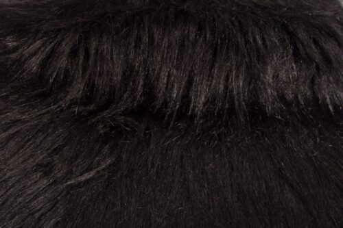Budget faux fur Soft, thick, long-haired, black faux fur fabric –  YF 306/1 Black