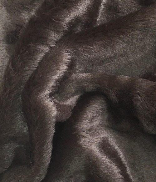 Budget faux fur Dark Brown Faux fur Fabric by the meter super value for money –  YF 286/1 Dk Brown 0904