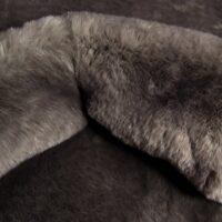 Faux fur by the metre Super soft dark grey rabbit style faux fur fabric – 3105 Dark grey